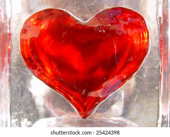 Red hot heart in cold ice