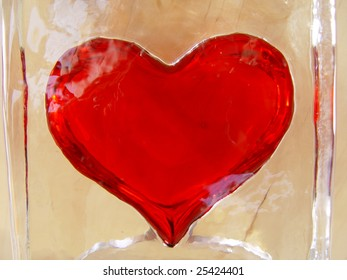 Red hot heart in cold ice back yellow