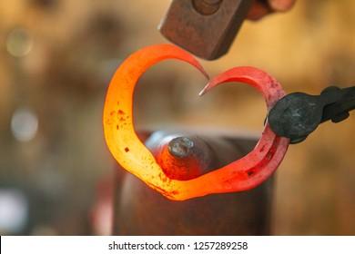 red hot metal heart