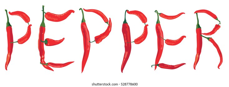 Red hot pepper spice background.