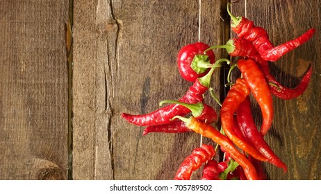Red hot peppers on drying