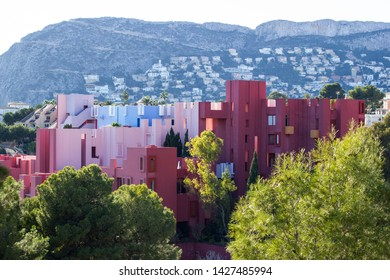 The red house in Calpe, Spain.