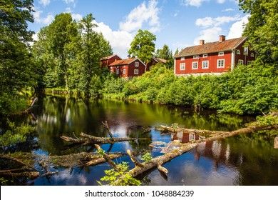 Red houses in Västmanland, Sweden