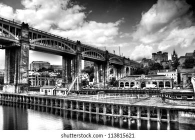 Red Hue Bridge at Newcastle upon Tyne taken from Gateshead
