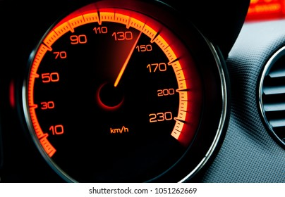 red iluminated speedometer