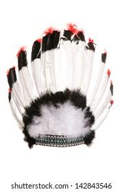 red indian cheif head dress studio cutout