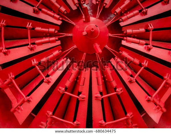 Red Industrial Propeller Blade