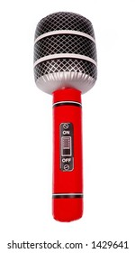 Red Inflatable Toy Microphone