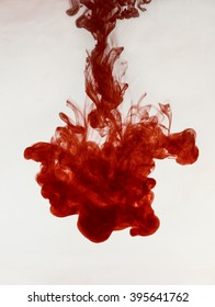 red ink in water. abstract background