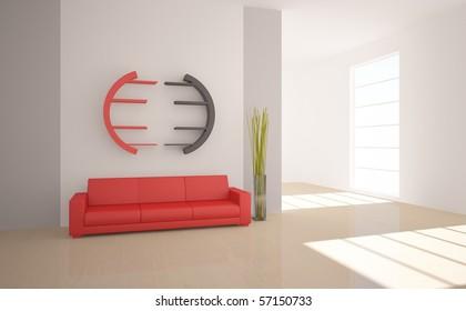 red interior concept