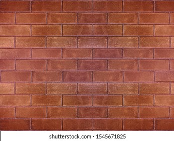Red interlocking bricks are a component of building a house for decorating. Can be used to design as a background.