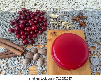 Red jelly berries, organic healthy sweet food