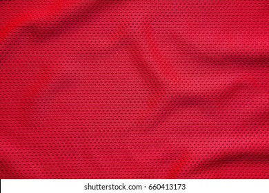 Red jersey sports wear background.