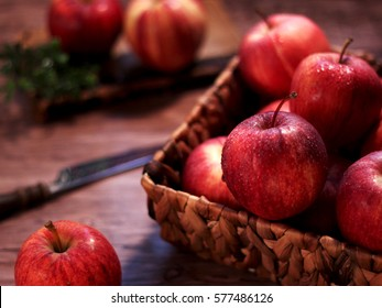Red juicy apples