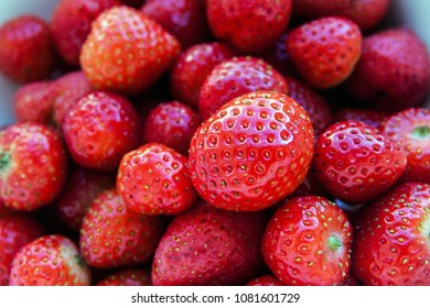 Red juicy ripe fresh strawberry fruit background