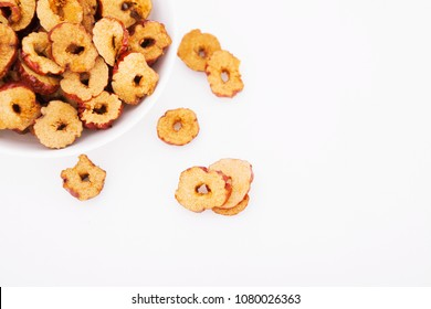 Red jujube slices on white background