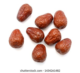 red jujubes isolated on white background