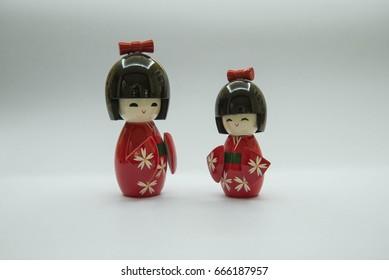 red kimono toy feeling happy