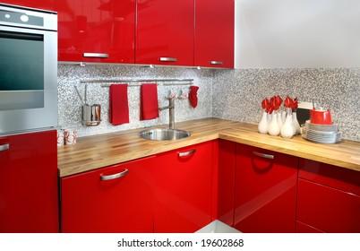 Red Kitchen Tiles Images, Stock Photos & Vectors | Shutterstock