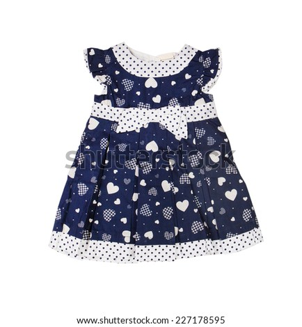 c9fb8f0a6b25 Red Knitted Baby Dress On White Stock Photo (Edit Now) 227178595 ...