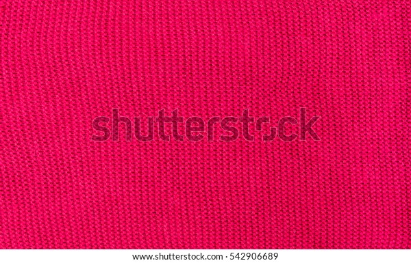 Red knitted texture