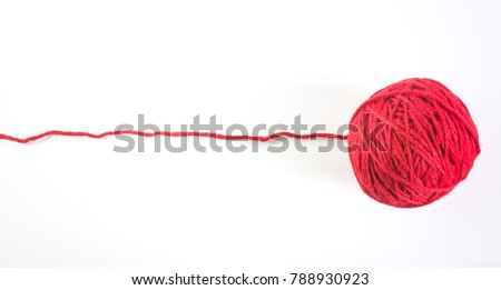 Red Knitting Yarn Handicrafts Isolated On Stock Photo Edit Now