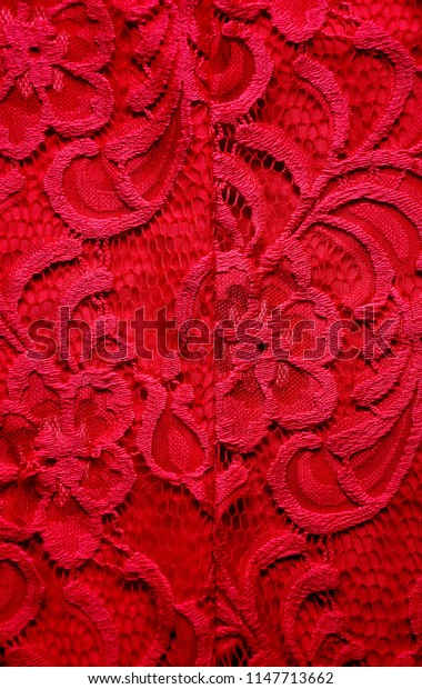 Red lace with flower
