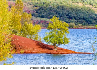 Red land, river
