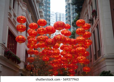 red lantern in lee dong street, celebration of chinese new year