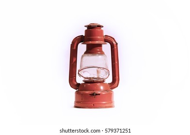 Red Lantern with White Background