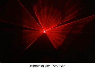 Red laser lights