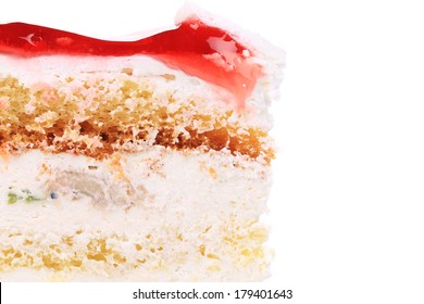 Red layer close-up. Isolated on a white background.