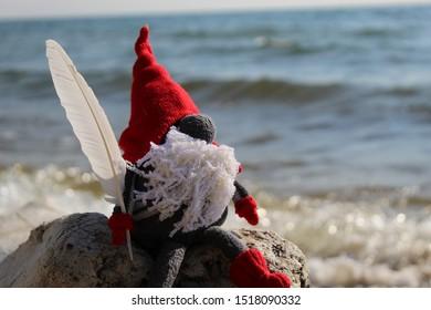 Red Leprechaun at the seaside