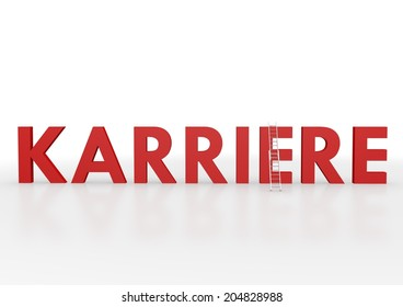 """red letters containing the Germany word """"Karriere"""", translation: career"""