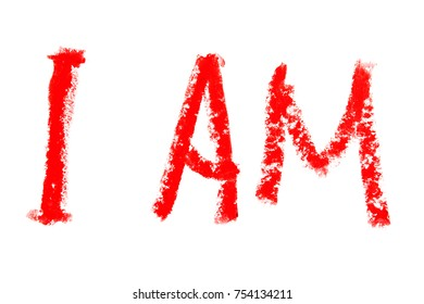red letters on the white background