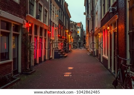 Red light district in