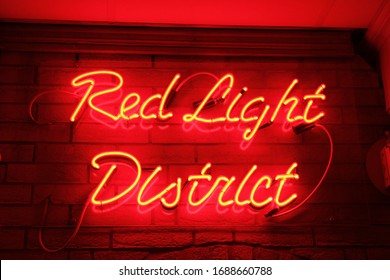 Red Light District Sign Board