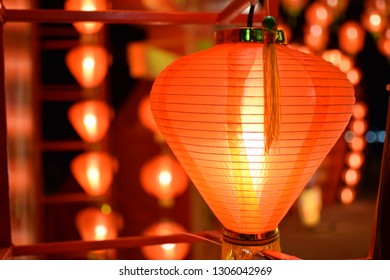 Red light, night light Chinese New Year Festival in Thailand