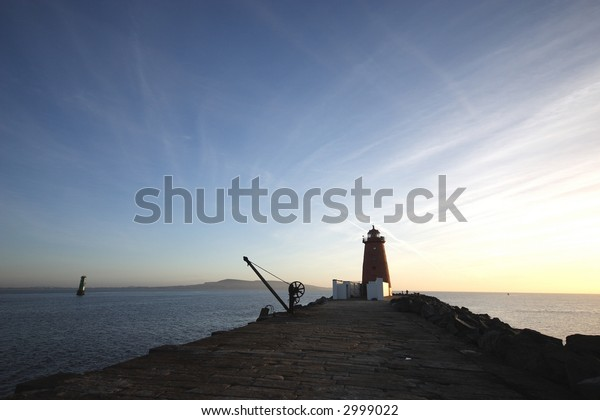 Red Lighthouse at dawn