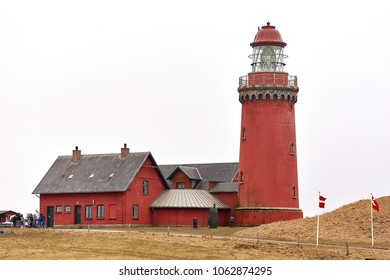 Red lighthouse in Denmark