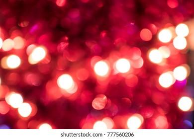 red lighting decoration bokeh
