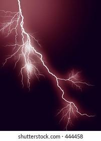 red lightning bolt