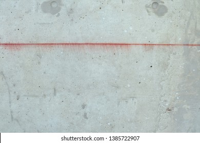 red line on concrete background