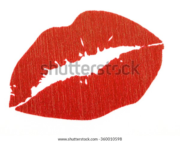Red Lips Red Quotes Shape Heart Stock Photo (Edit Now) 360010598