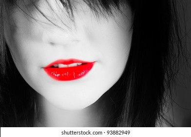 Red Lips of a woman