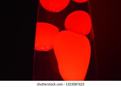 Red liquid bubbles