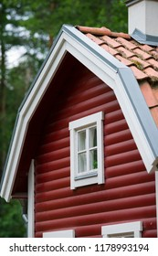 Red little cottage
