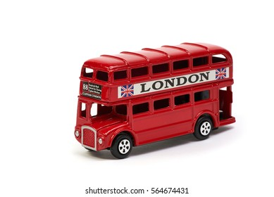 Red London Bus Toy