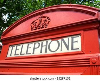 Red london phone box.