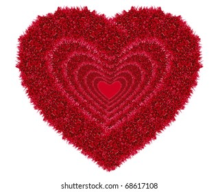 red love heart isolated